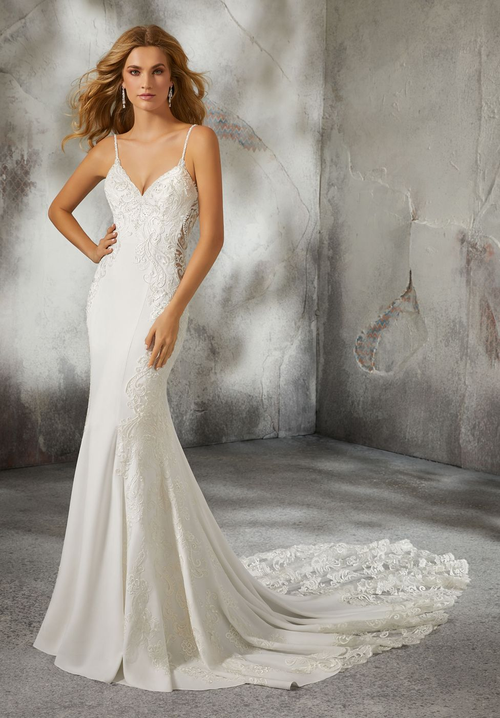 Mori Lee 8283 Lizzie Sheer Sides Wedding Dress Fitted Wedding Dress Mori Lee Wedding Dress Chic Bridal Gown