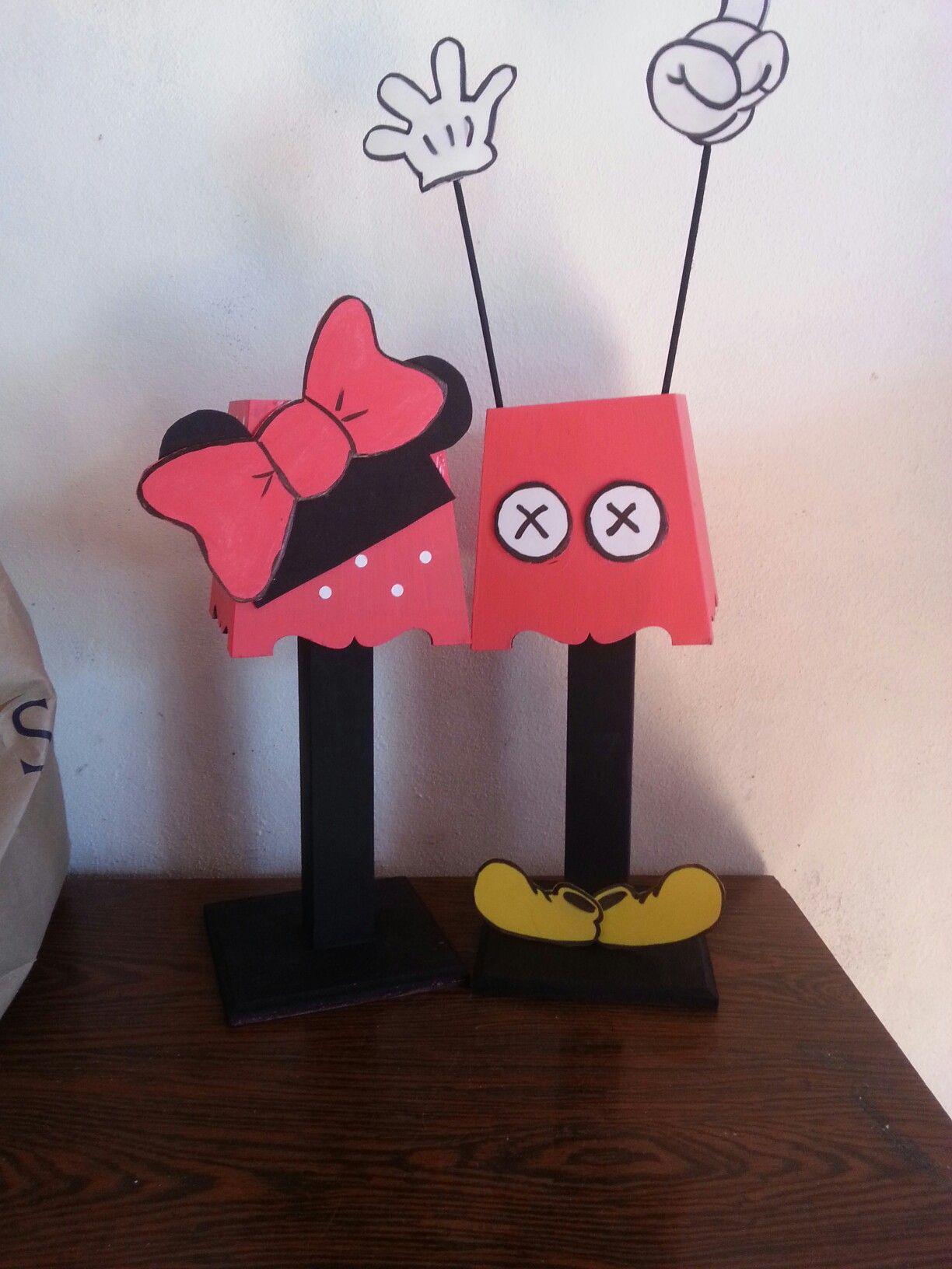 Originales veladores de minnie y mickey mouse para centros - Dibujos infantiles originales ...