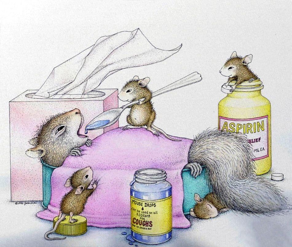 Картинка мышка болеет