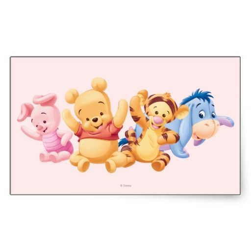 Baby Winnie the Pooh Friends Rectangle Stickers 495  Baby