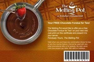 photo regarding Melting Pot Coupons Printable identified as Pin upon Discount codes