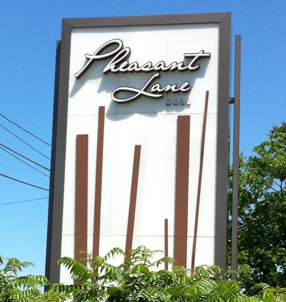 This is the new logo/sign for the Pheasant Lane Mall in Nashua, NH (awesome vintage!)