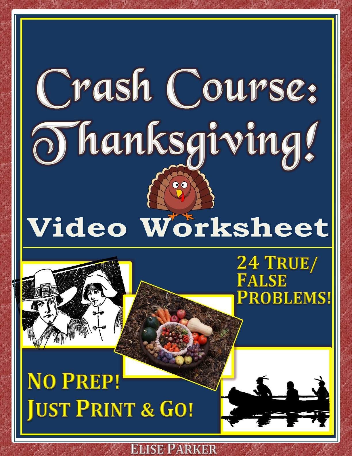 Crash Course Thanksgiving Worksheet True False
