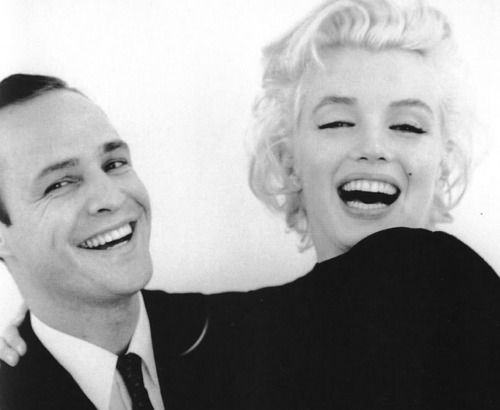 Marlon Brando & Marilyn Monroe...wow! I've never seen a pic of him this young!