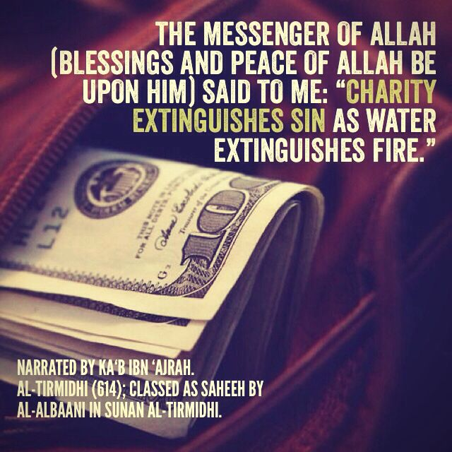 Charity Extinguishes Sin Islam Islamic Quotes Hadith Islam