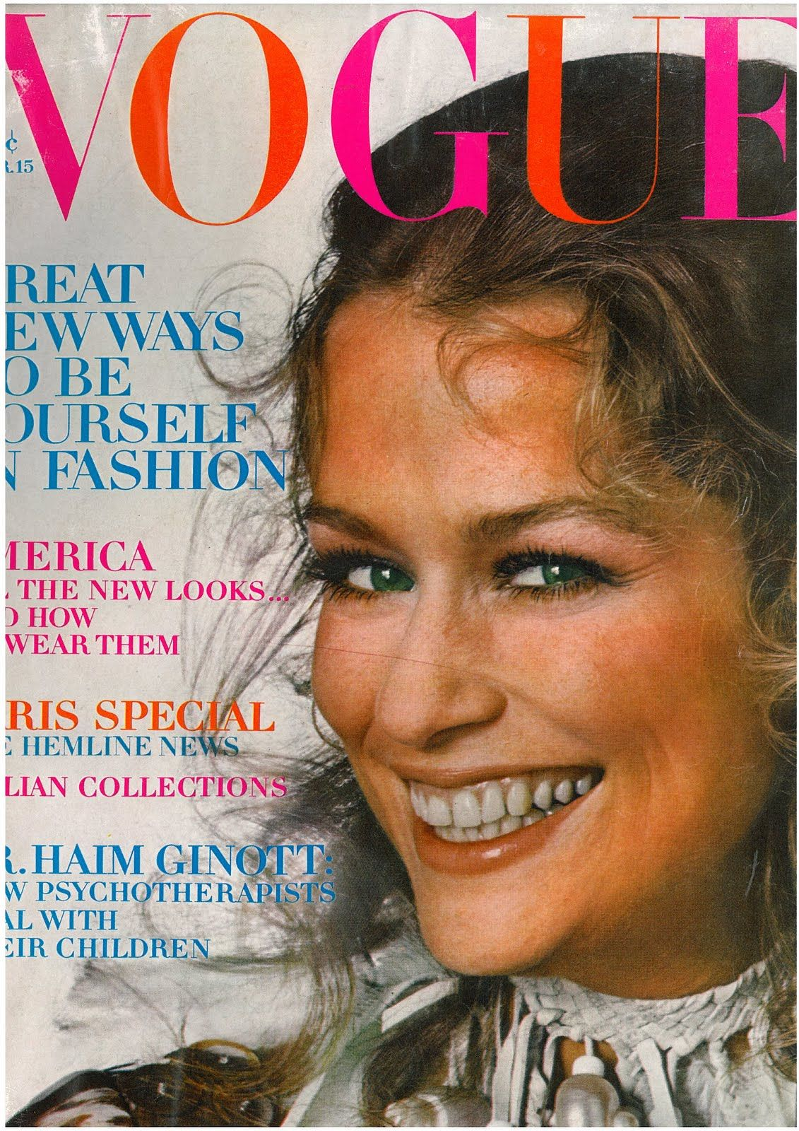 Lauren Hutton. Photo by Irving Penn. Vogue, March 15, 1970
