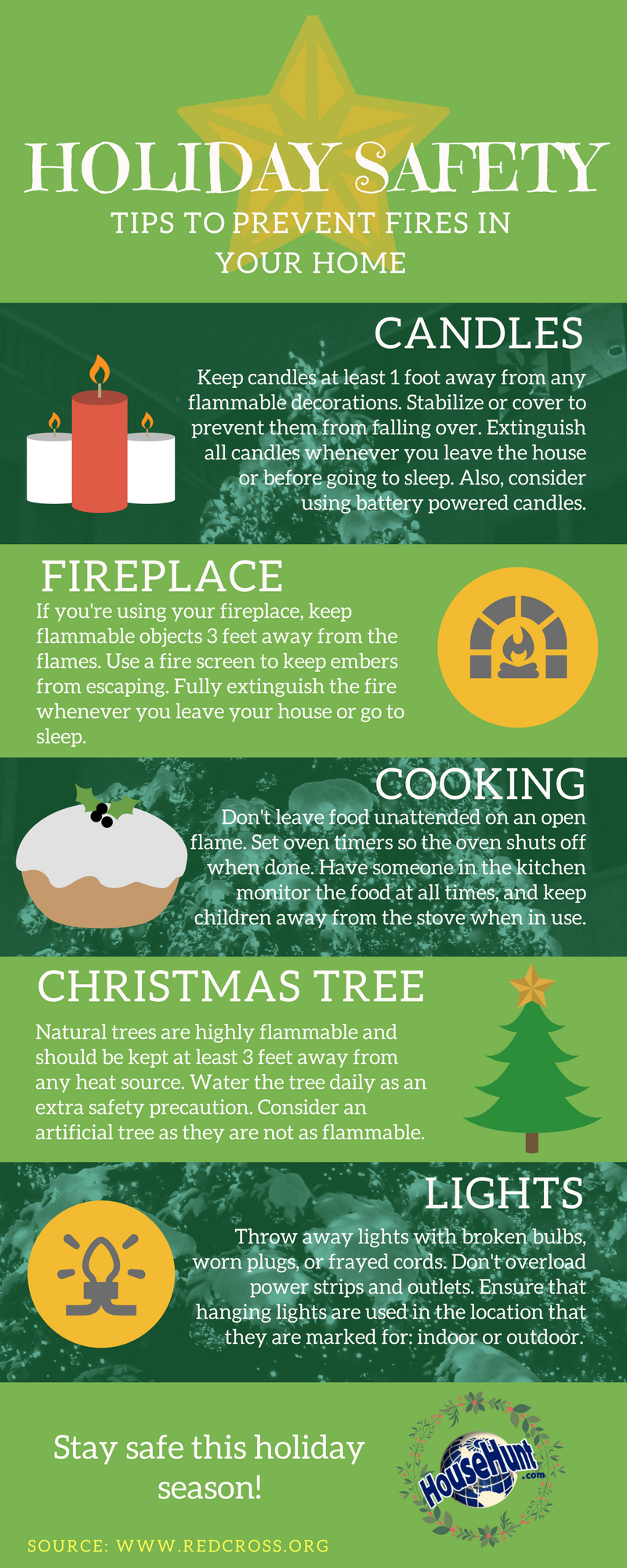 Holiday Fire Safety infographic Infographic, Home
