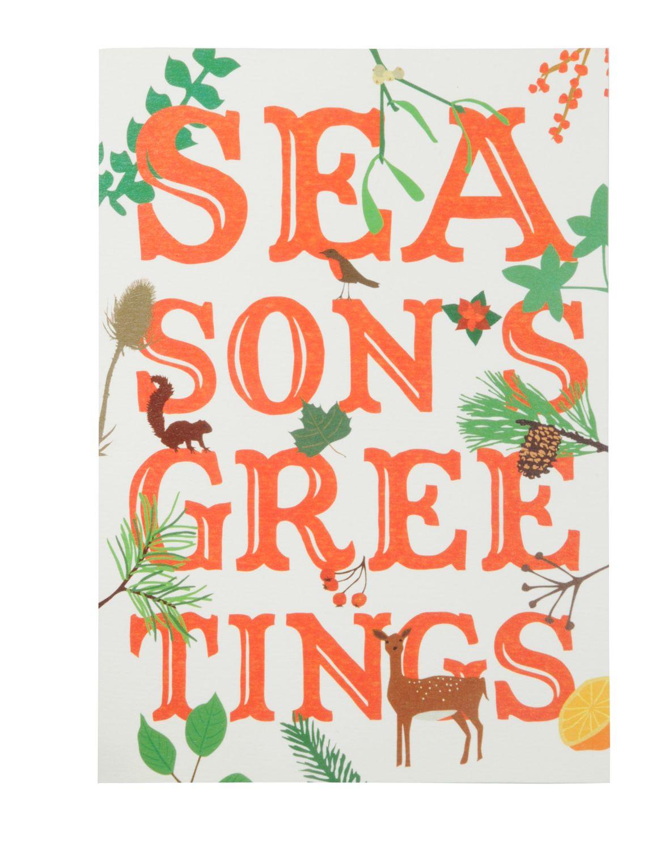 Heal\'s | Seasons Greatings Woodland Christmas Cards Set of Six ...