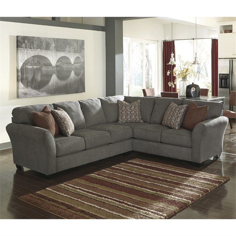 Lowest price online on all Signature Design by Ashley Furniture Doralin Left Corner Sectional in Steel  sc 1 st  Pinterest : ashley sectionals prices - Sectionals, Sofas & Couches