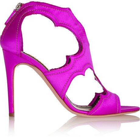 ef69ca569738 Rupert Sanderson Estelle cutout satin sandals on shopstyle.com ...
