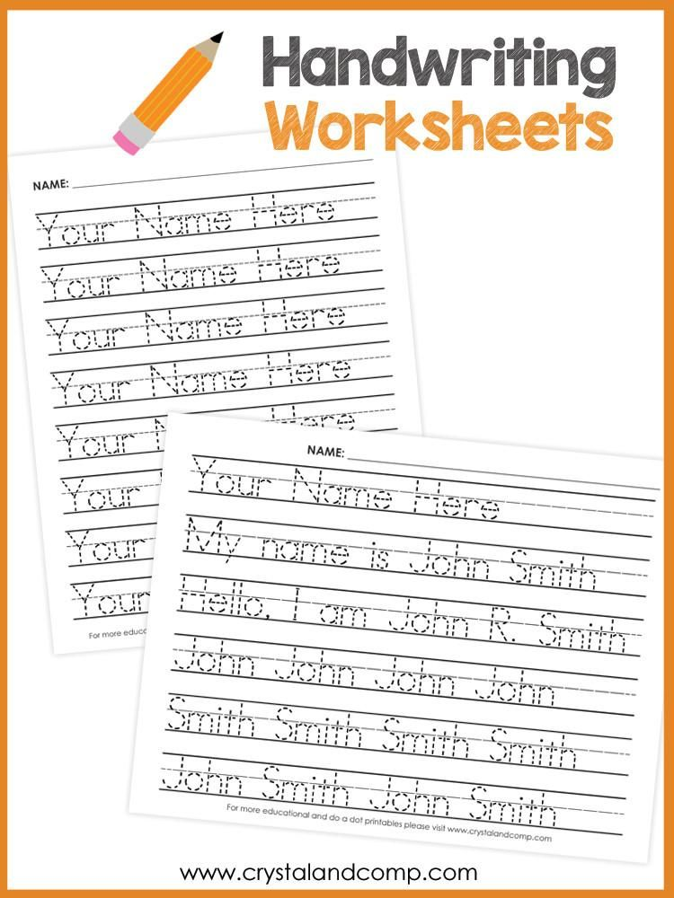 Handwriting Worksheets For Kids You Can Customize And Edit