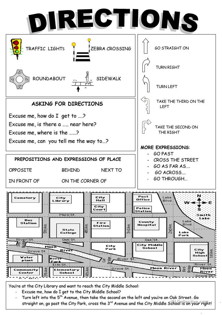 Directions Worksheet Free Esl Printable Worksheets Made By Teachers Teaching English Learn English English Activities [ 1079 x 763 Pixel ]