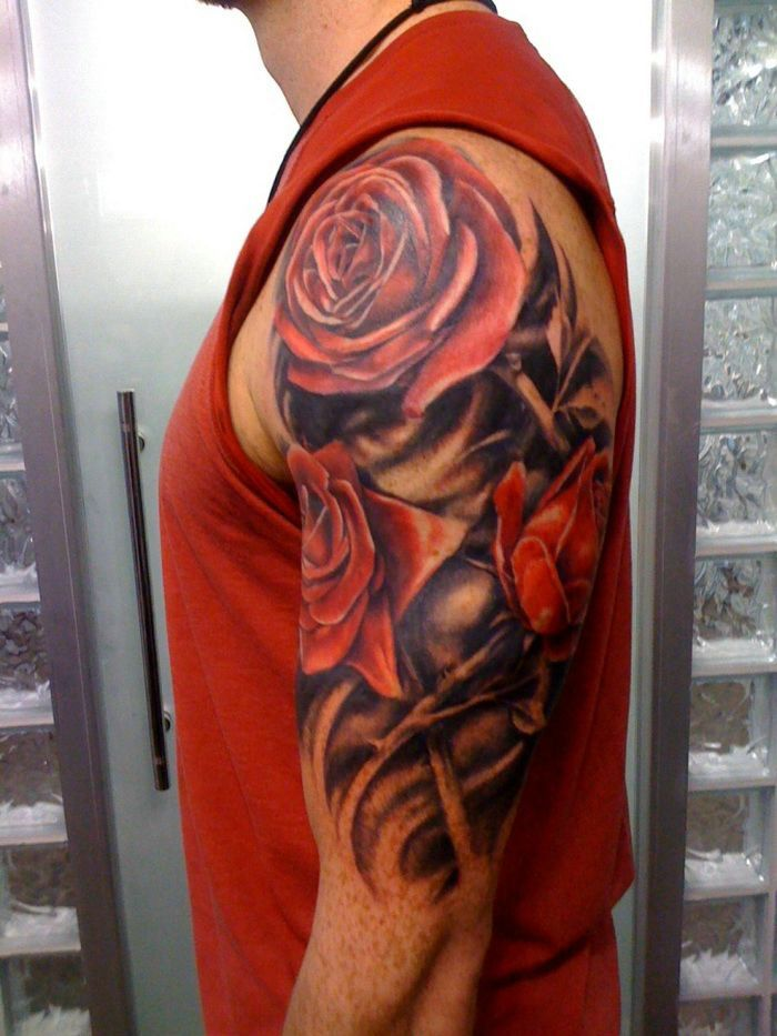 Arm Sleeve Tattoos Red Roses Tattoo Designs Pinterest Tattoos