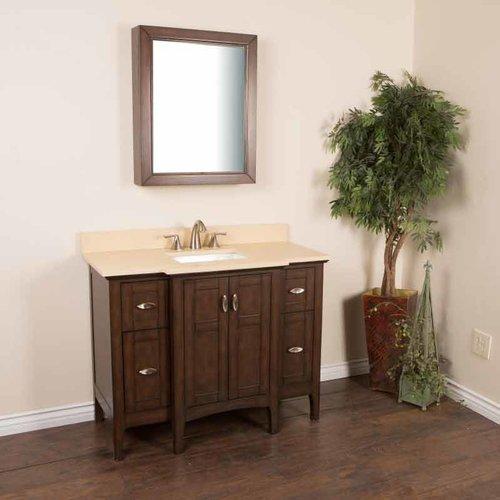 Bellaterra 45 Single Sink Bathroom Vanity Sable Walnut Cream Top 7614 Sw Cr Single Sink Vanity Vanity Sink Bathroom Vanity 45 single sink bathroom vanity