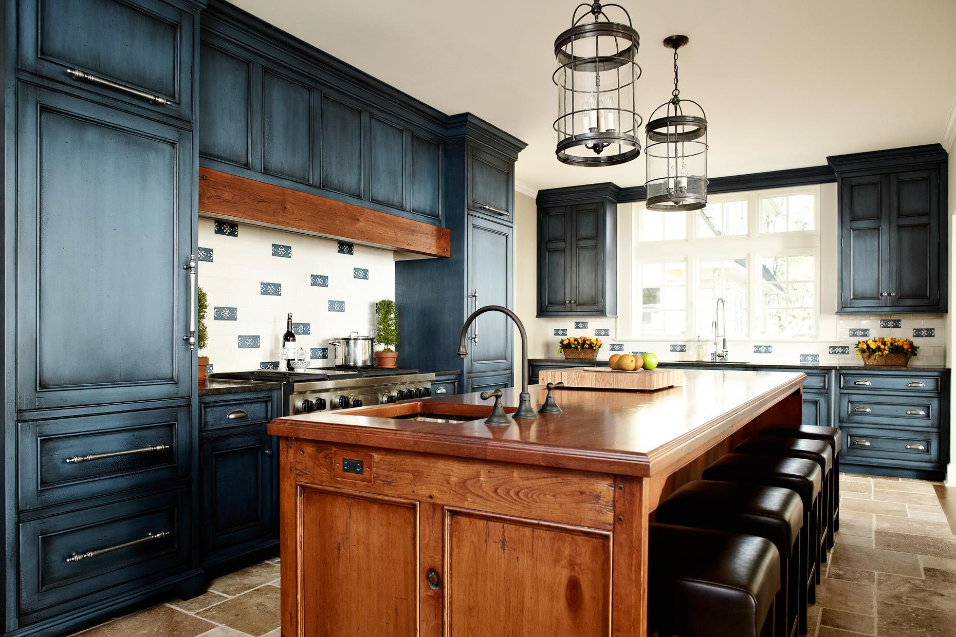 Rustic Wood Countertops Distressed Kitchen Cabinets Tuscan Kitchen Design Painted Kitchen Cabinets Colors