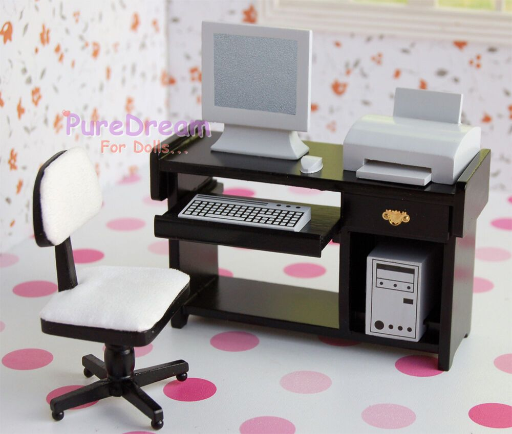 Dollhouse Miniature Modern Laptop Computer that Opens /& Closes #MWBM61B