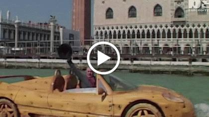 Homemade Wooden Ferrari Makes Waves In Venice https//www