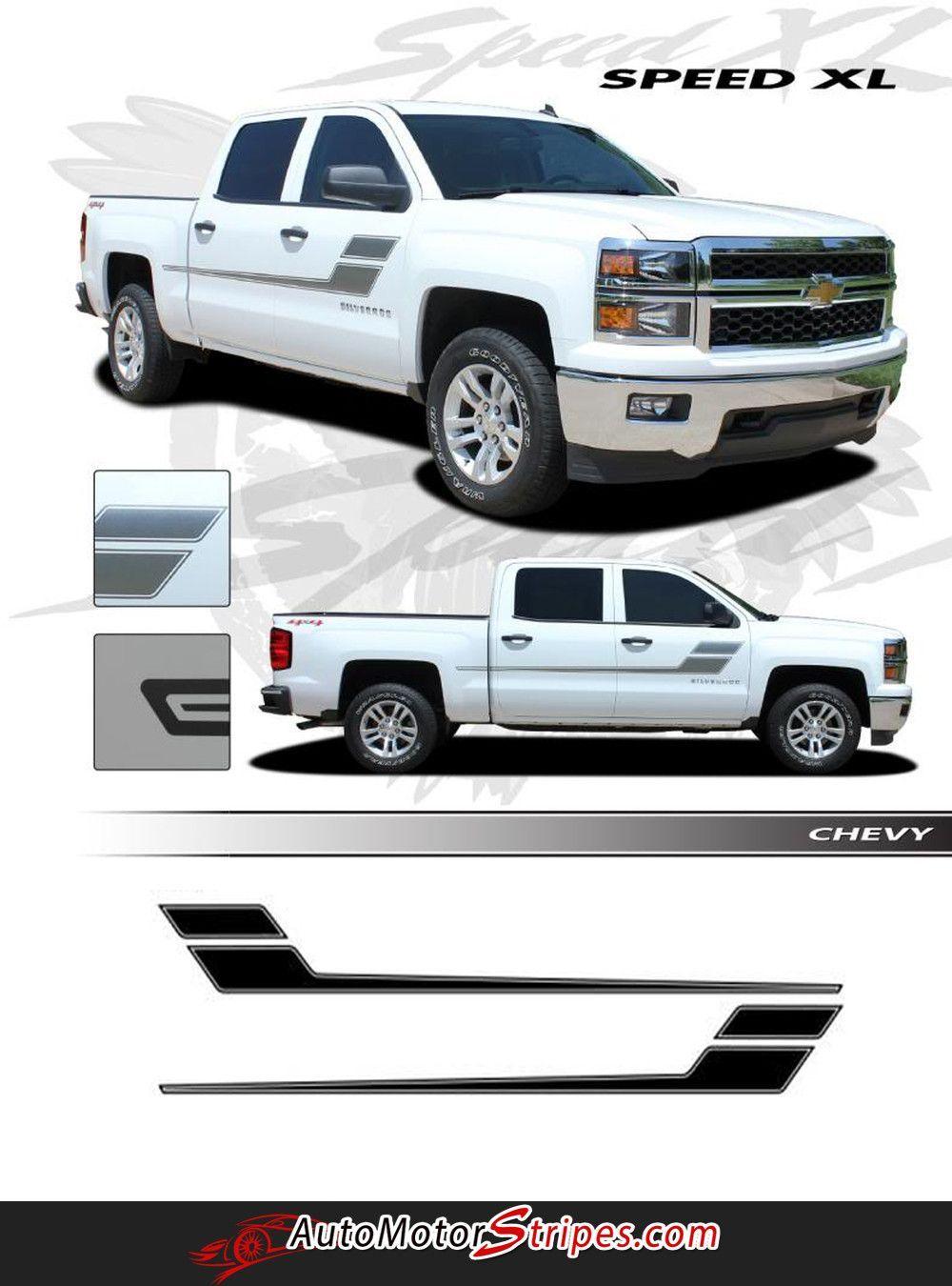 2007 2018 Chevy Silverado Speed Xl Truck Side Door Hockey Vinyl