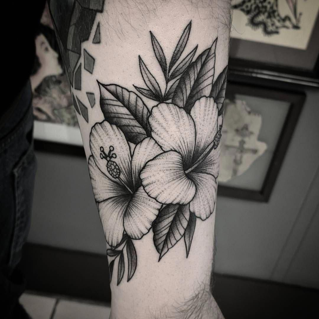 Some Hibiscus Flowers From Today Flower Darkartists Blackwork