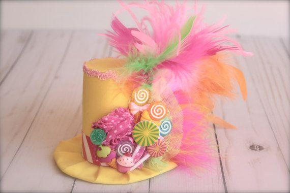 2d988c7c02cae Candyland Lollipop inspirado Mini sombrero diadema o Sombreros De Carnaval
