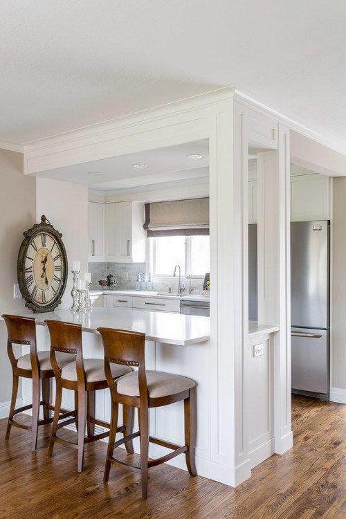 Suburban Kitchen,13 Cozy White Kitchens, Small White Kitchen, Bright  Kitchens