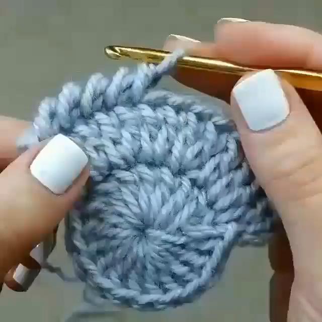 Photo of BACKWARDS crochet….counter clockwise.  Interesting.