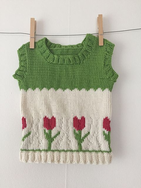 78d7549769d9 Knitting Patterns Galore - Tulip Sweater Vest for Baby