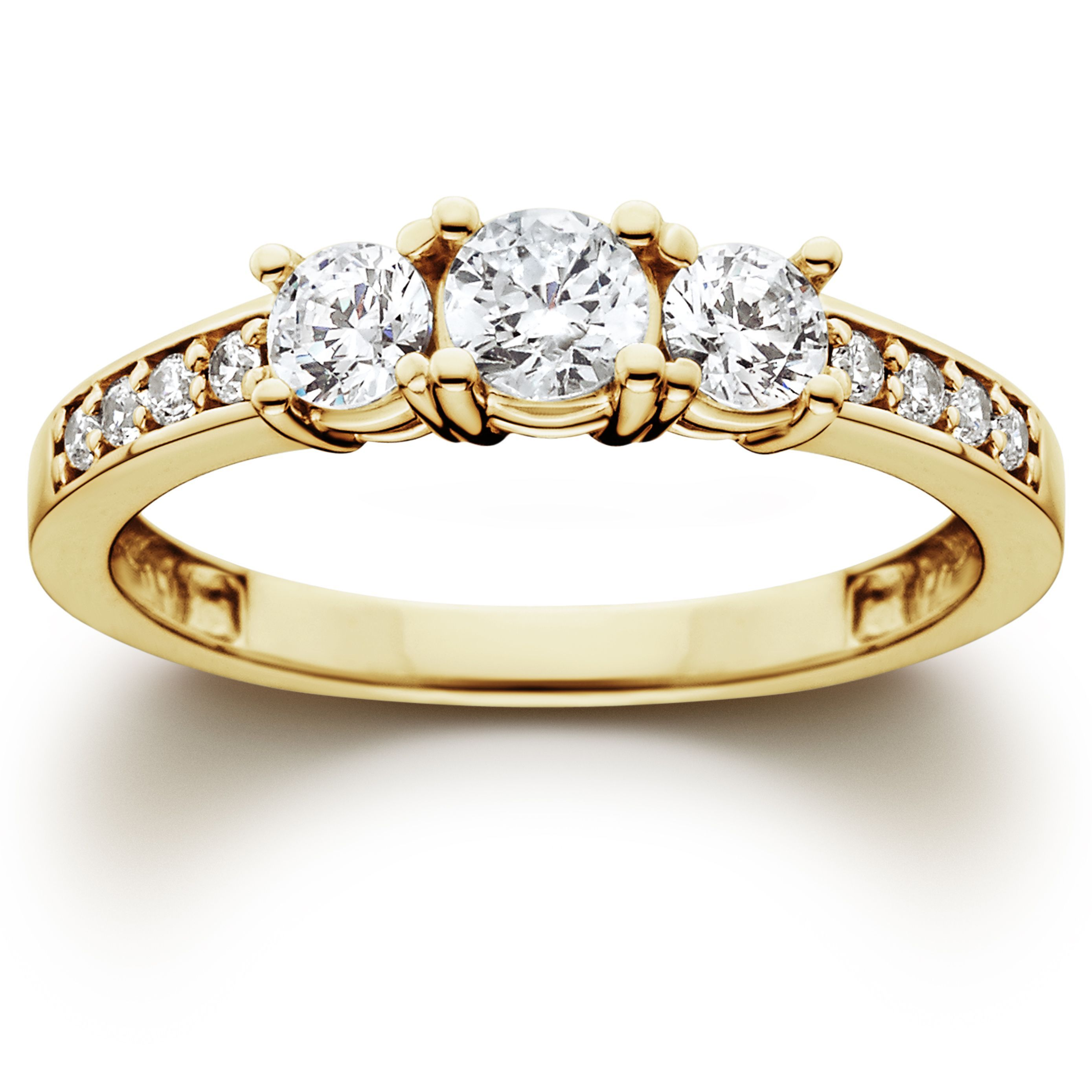 piece band wedding solid set ct rings gold ring products engagement yellow princess cut