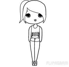 Chibi Chibis Cute Kawaii Nekoprincess Chibi Girl Drawings Easy Drawings Cartoon Girl Drawing