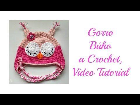 Gorro Búho a Crochet, Vídeo Tutorial - YouTube   Crochet   Pinterest ...