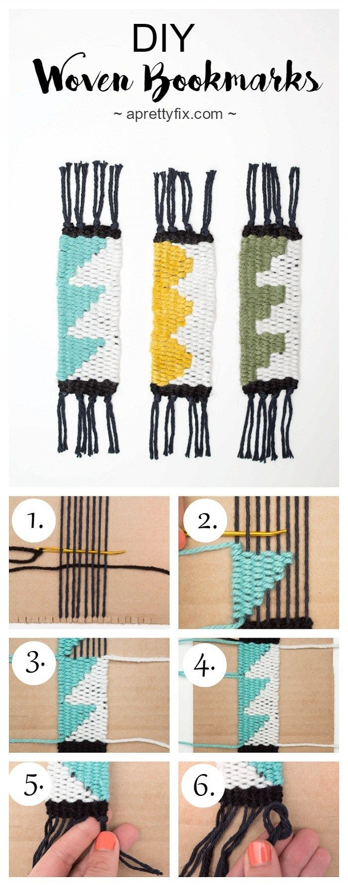 DIY Woven Bookmarks (For Beginners) - A Pretty Fix