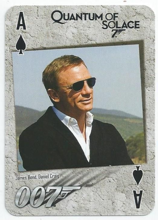 James Bond 007 Playing Card Quantum Of Solace Ace Of Spades
