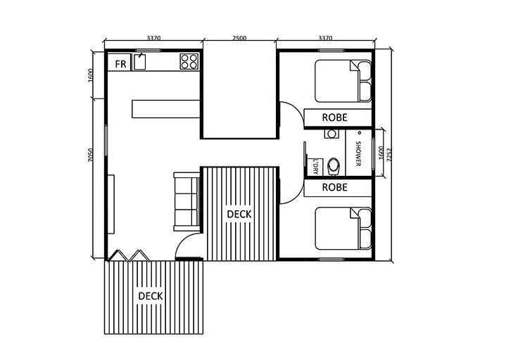 Guest house floor plan 2 bedroom with images house