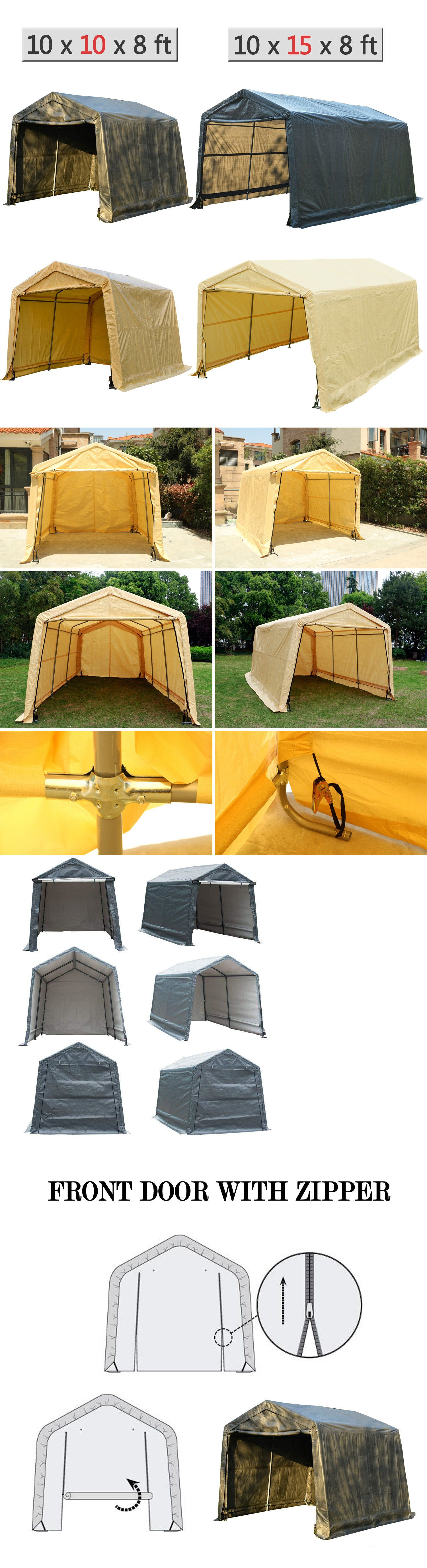 Canopy Carport Tent Auto Shelter Car Storage Shed Cover Outdoor Awning Portable Carport Tent Storage Shed Outdoor Awnings