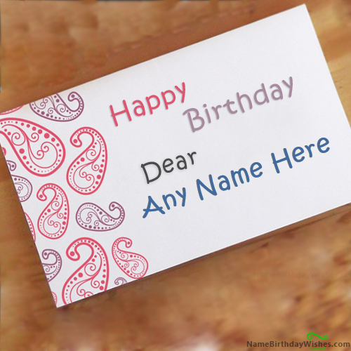 Birthday Wishes For Friends With Name Cards Hbd Wishes Pinterest