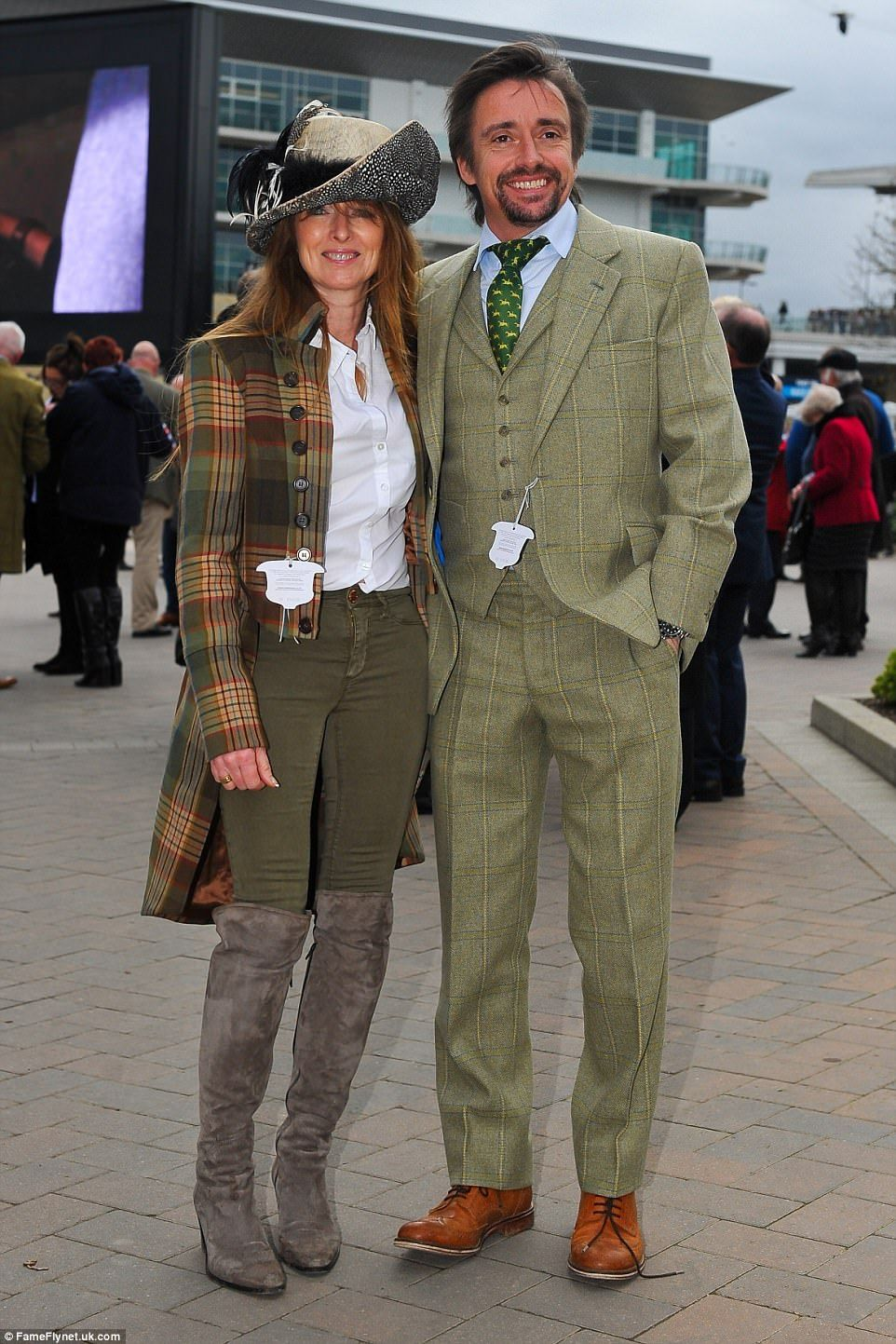 Glamorous Racegoers Arrive For The First Day At Cheltenham Race