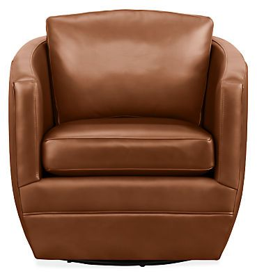 Ford Leather Swivel Chair Modern Accent Lounge Chairs Modern