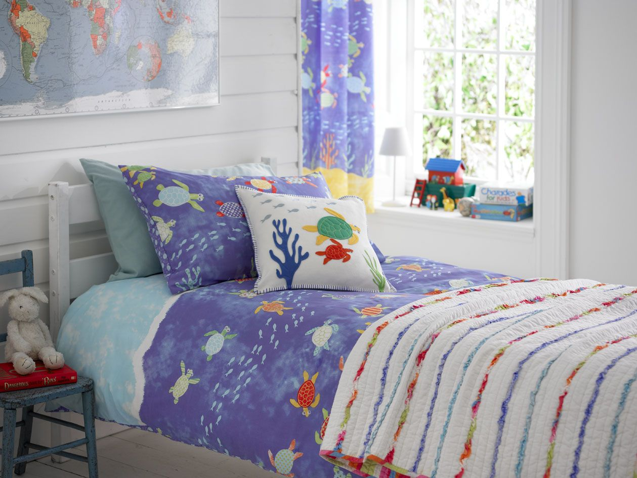 Kids Bedroom Bedding Details About Kids Nautical Seaside Boys Bedding Duvet Cover Set
