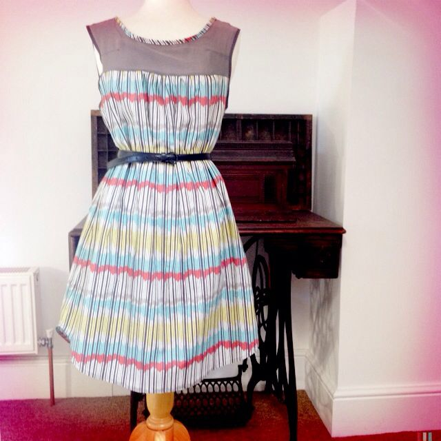 Made By Rae Ruby Dress Pattern With Fabric From John Lewis