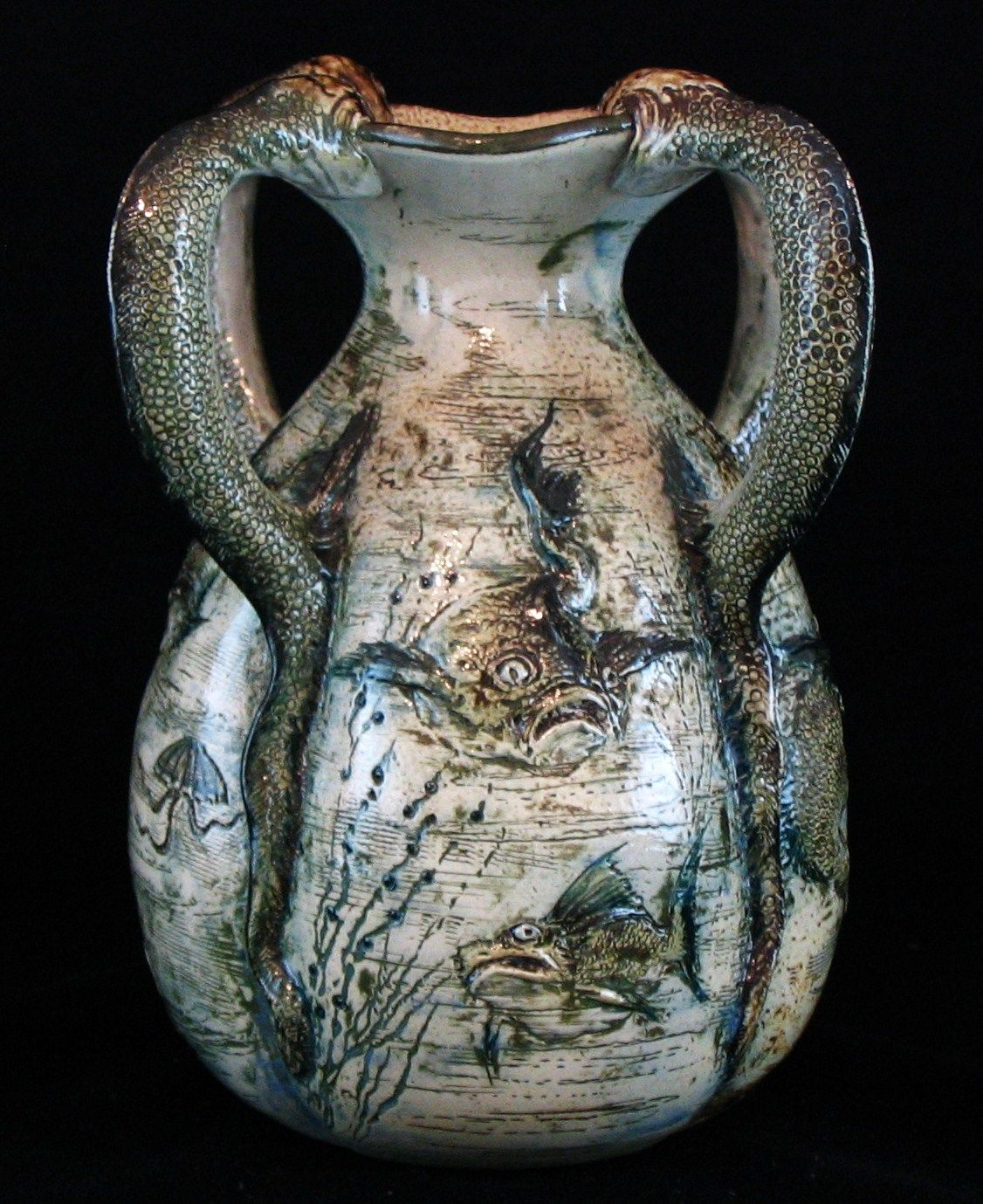 Martin brothers vase decorated with grotesque and comical fish martin brothers vase decorated with grotesque and comical fish alison davey has become one of reviewsmspy