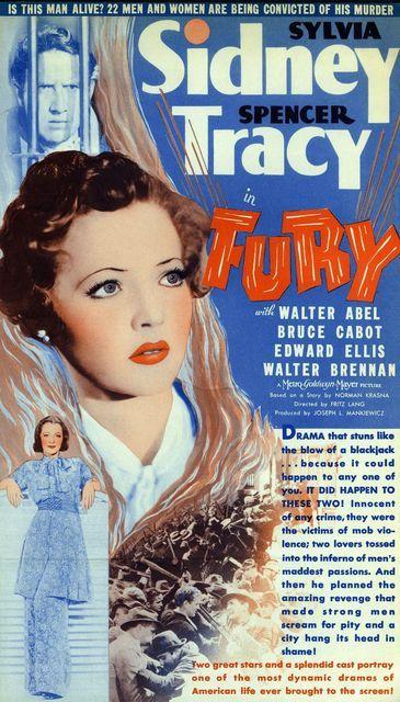 fury-1 - Fury; 1936; Fritz Lang; Sylvia Sidney; Spencer Tracy; Bruce Cabot; Walter Abel; Edward Ellis; Walter Brennan;