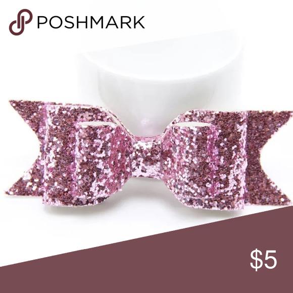 Girls Glitter Hair Bow Sparkle Hair Bows Pink Hair Bows Hair Band Accessories