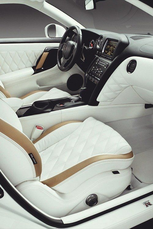 Car With White Leather Interior Luxury Car Interior New Luxury Cars Custom Car Interior