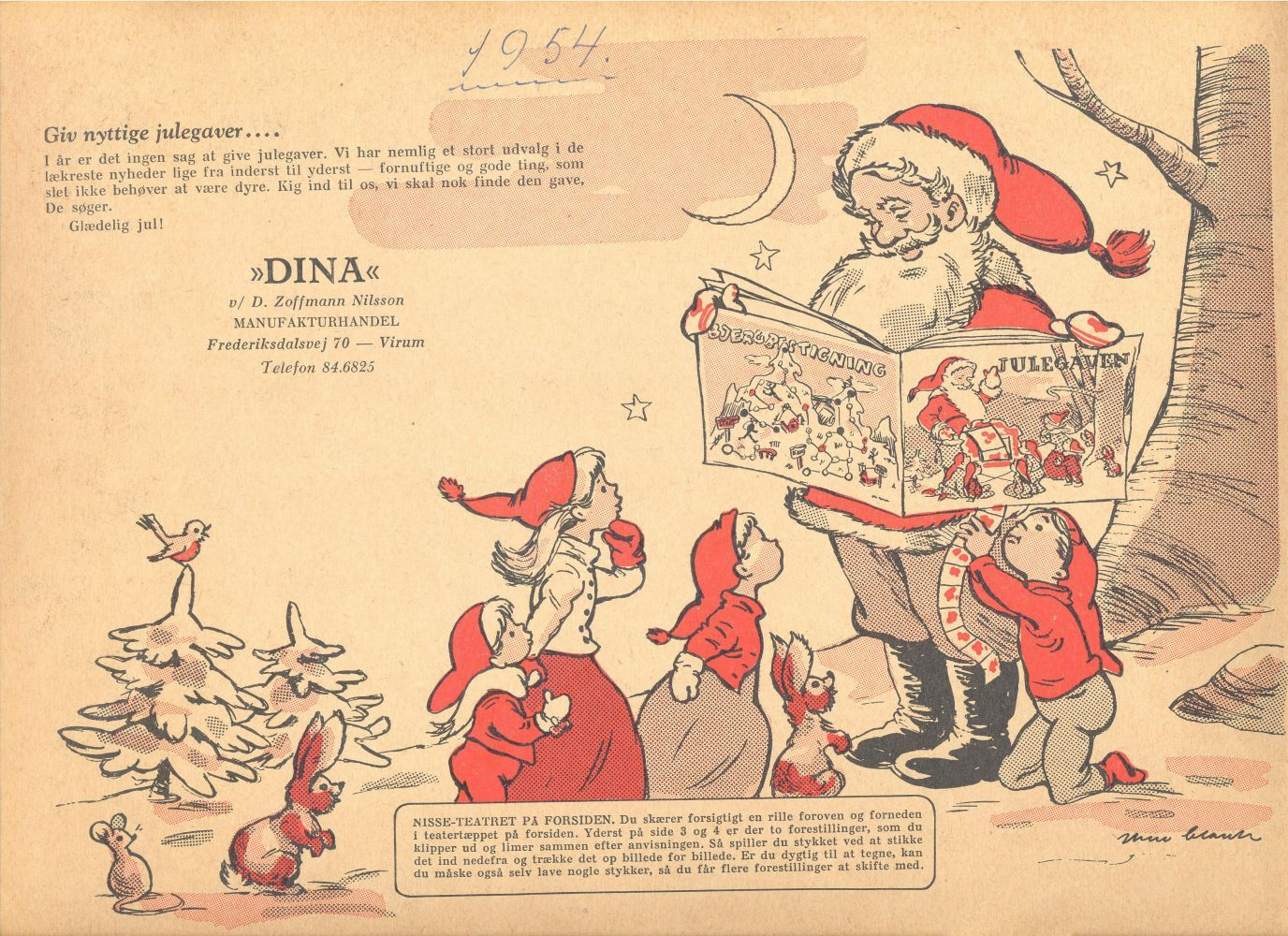 CHRISTMAS GIFT CATALOGUE OR GUIDE 1954 DANISH
