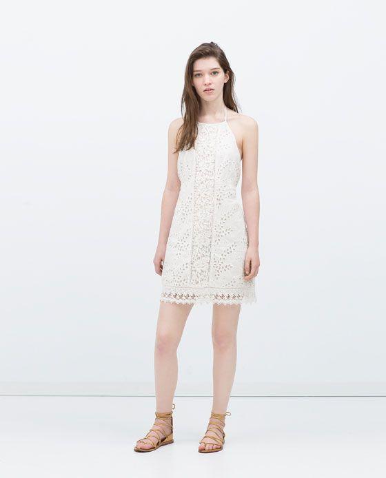 93d0fa378b14 ZARA - TRF - TIE NECK DRESS | Vestidos Tess en 2019 | Vestidos ...