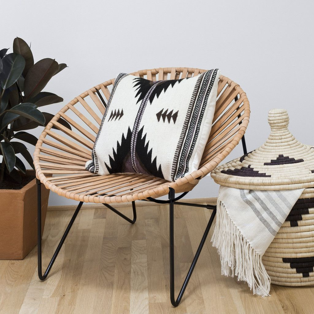 Acapulco chair vintage - Aldama Chair Black Natural