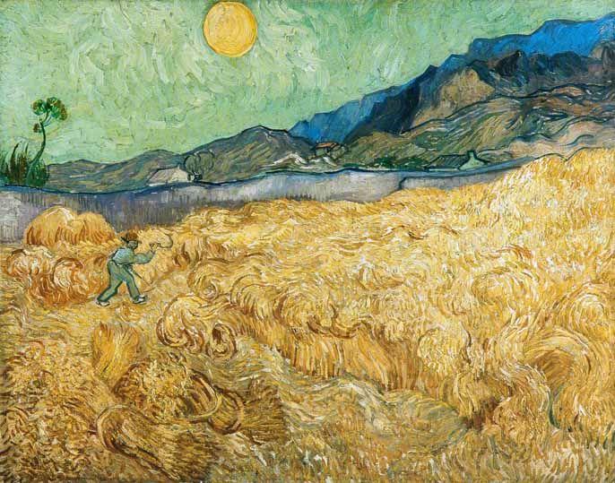 Vincent Van Gogh Post Impressionism Saint Remy Le Faucheur