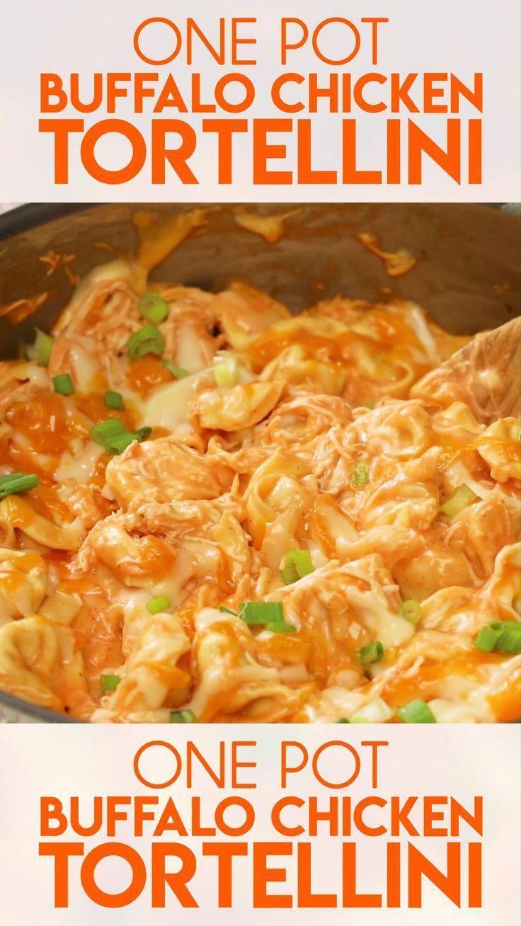 One Pot Buffalo Chicken Tortellini - The Salty Mar