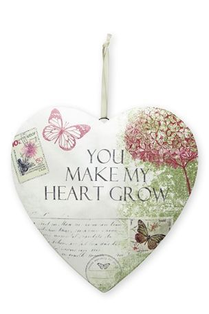 Buy Floral Print Metal Hanging Heart from the Next UK online shop