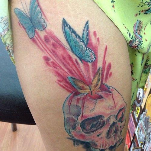 caveira tattoo : mais uma das caveiras do artista Lico   mundodatattoo
